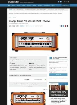 MusicRadar.com Orange Crush Pro Series CR120H