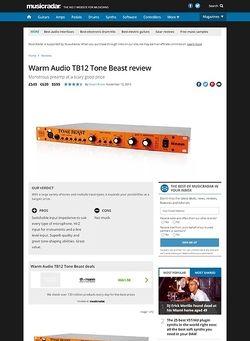 MusicRadar.com Warm Audio TB12 Tone Beast