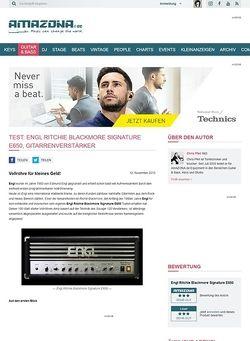 Amazona.de Test: Engl Ritchie Blackmore Signature E650, Gitarrenverstärker