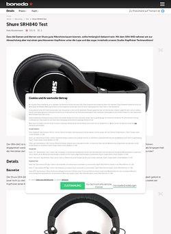 Bonedo.de Shure SRH840
