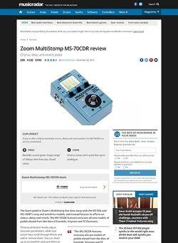 MusicRadar.com Zoom Multistomp MS-70CDR