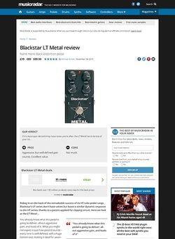 MusicRadar.com Blackstar LT Metal