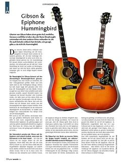 Guitar Test: Gibson Hummingbird & Epiphone Hummingbird