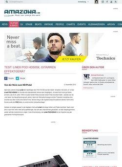 Amazona.de Test: Line6 POD HD500X, Gitarren Effektgerät