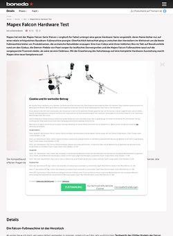 Bonedo.de Mapex Falcon Hardware Test
