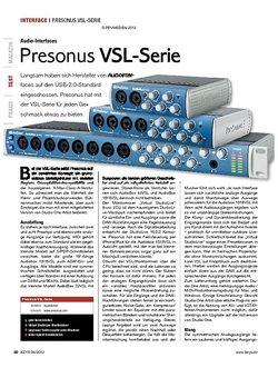 KEYS Presonus VSL-Serie