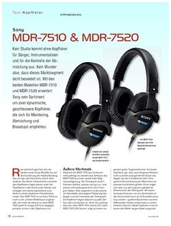 KEYS Sony MDR-7510 & MDR-7520