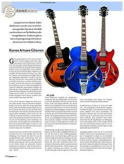 Guitar Test: Ibanez Artcore Gitarren AF 75 BS, AFS 75T TBL, AM 73T