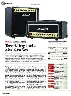 Guitar Marshall DSL15C & DSL15H
