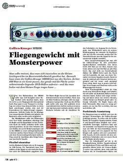 Guitar Gallien-Krueger MB800