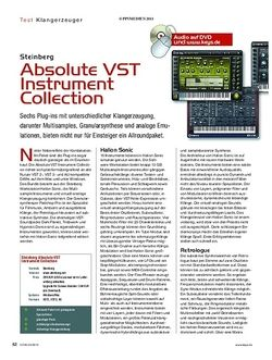 KEYS Steinberg Absolute VST Instrument Collection