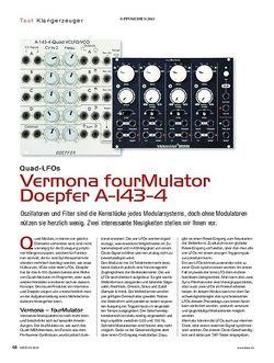 KEYS Vermona fourMulator & Doepfer A-143-4