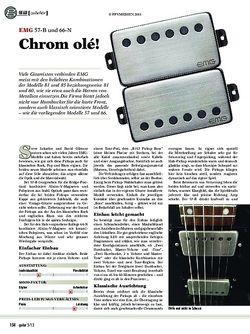 Guitar EMG 57-B und 66-N