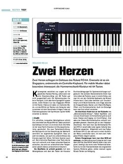 Tastenwelt Roland RD-64 - Zwei Herzen