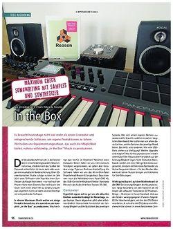 Soundcheck Produzieren in the Box