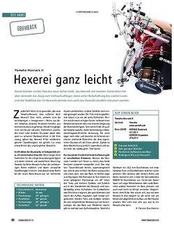 Soundcheck Test Drums: Yamaha Hexrack