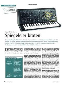 Soundcheck Korg MS-20 mini