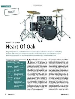 Soundcheck Yamaha Live Custom - Heart Of Oak