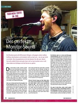 Soundcheck Maximumcheck In-Ear - Der perfekte Monitorsound