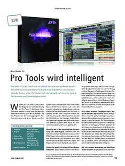 Soundcheck Pro Tools 11 - Pro Tools wird intelligent