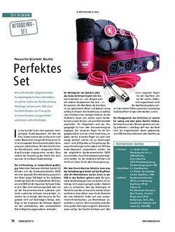 Soundcheck Focusrite Scarlett Studio - Perfektes Set