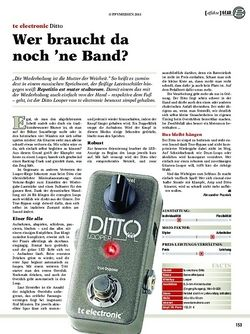 Guitar tc electronic Ditto