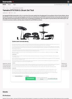 Bonedo.de Yamaha DTX700K E-Drum Set Test