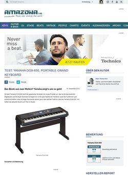 Amazona.de Test: Yamaha DGX-650, Portable Grand Keyboard