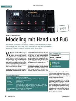Soundcheck Line 6 POD HD500X
