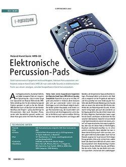Soundcheck Elektronische Percussion-Pads