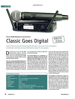 Soundcheck Shure SM58 Digitales Funkmikrofon - Classic Goes Digital