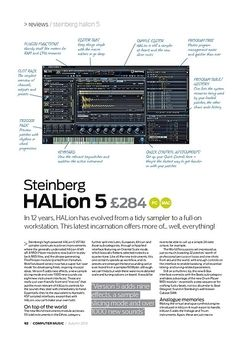 Computer Music Steinberg HALion 5