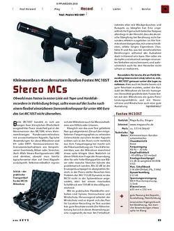 KEYS Test: Fostex MC10ST Kleinmembran-Kondensatormikrofon