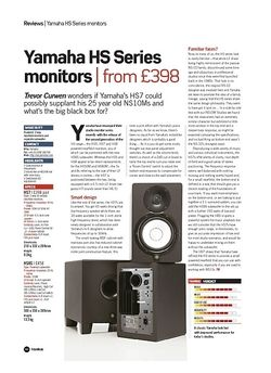 Future Music Yamaha HS Series monitors