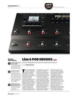 Guitarist Line 6 POD HD500X