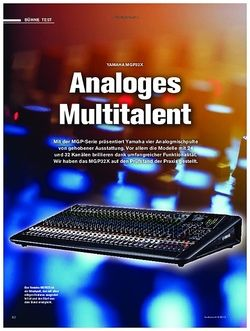 Tastenwelt Yamaha MGP32X - Analoges Multitalent