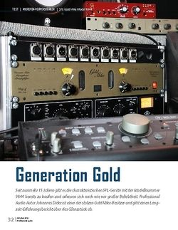 Professional Audio SPL Gold Mike Model 9844