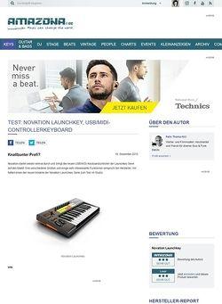Amazona.de Test: Novation Launchkey, USB/MIDI-Controllerkeyboard