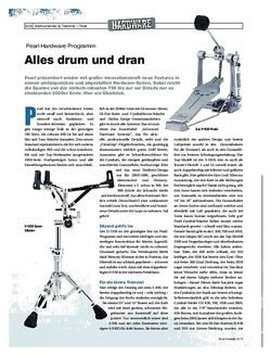 DrumHeads Pearl Hardware Programm 2013