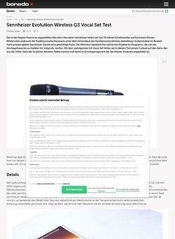 Bonedo.de Sennheiser Evolution Wireless G3 Vocal Set Test