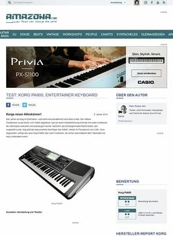 Amazona.de Test: Korg Pa900, Entertainer Keyboard