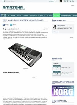 Amazona.de Test: Korg Pa900, Entertainer Keyboard