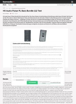 Bonedo.de HK Audio Pulsar PL Basis Bundle 112 Test