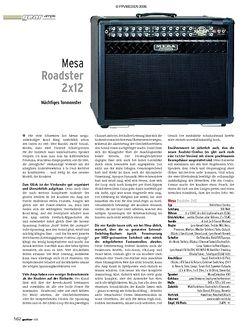 Guitar Test: Mesa Roadster 2 x 12