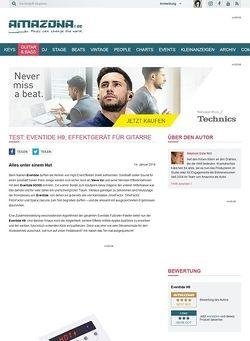 Amazona.de Test: Eventide H9, Effektgerät für Gitarre