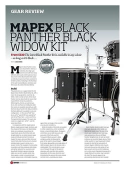 Rhythm Mapex Black Panther Black Widow Kit