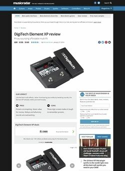 MusicRadar.com Digitech Element XP