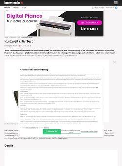 Bonedo.de Kurzweil Artis Test