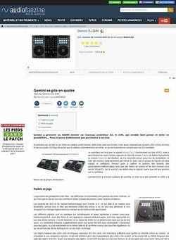 Audiofanzine.com Gemini DJ G4V