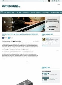 Amazona.de Test: iRig Pro, IK Multimedia, Audiointerface